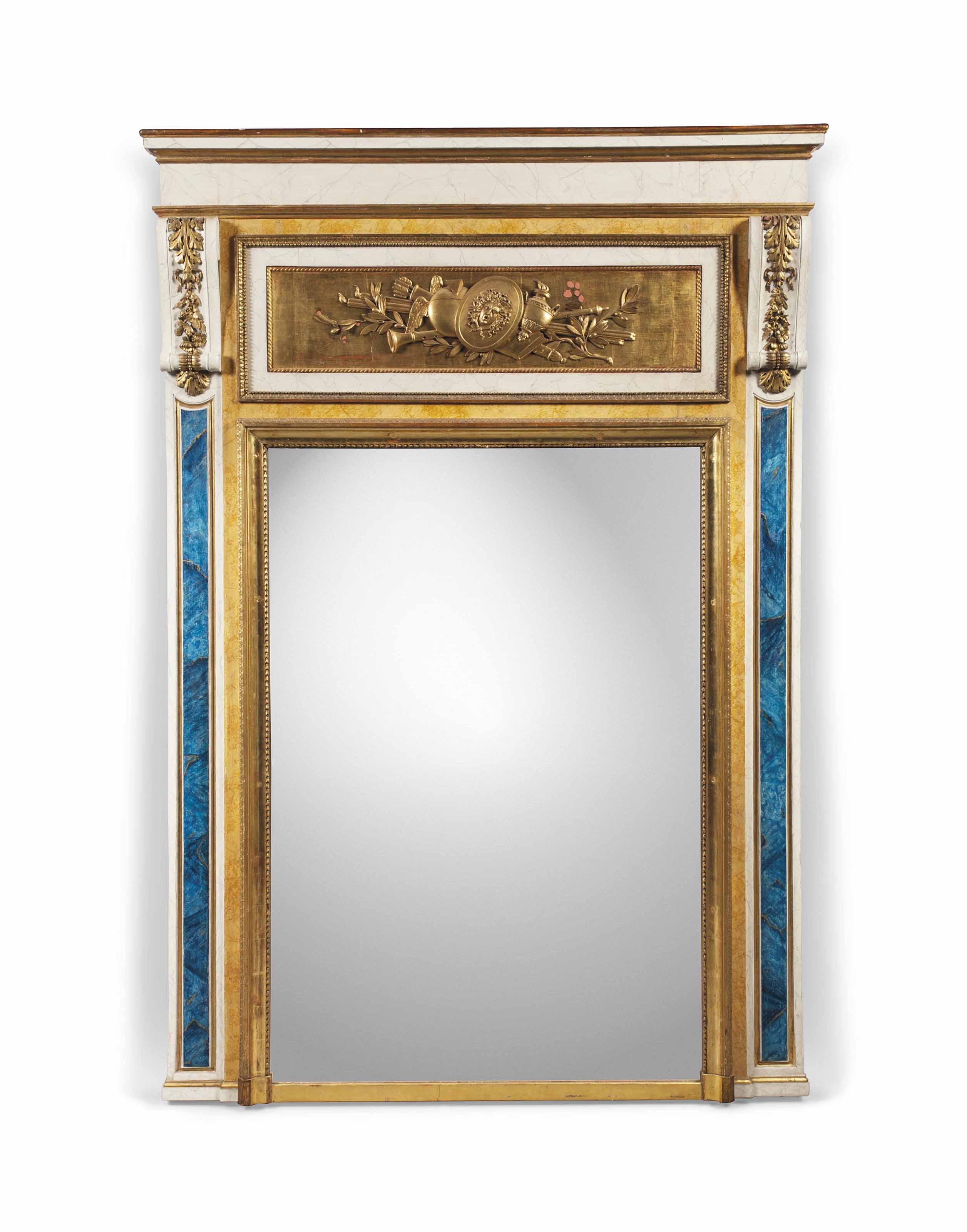 A LARGE FRENCH GILTWOOD AND SI