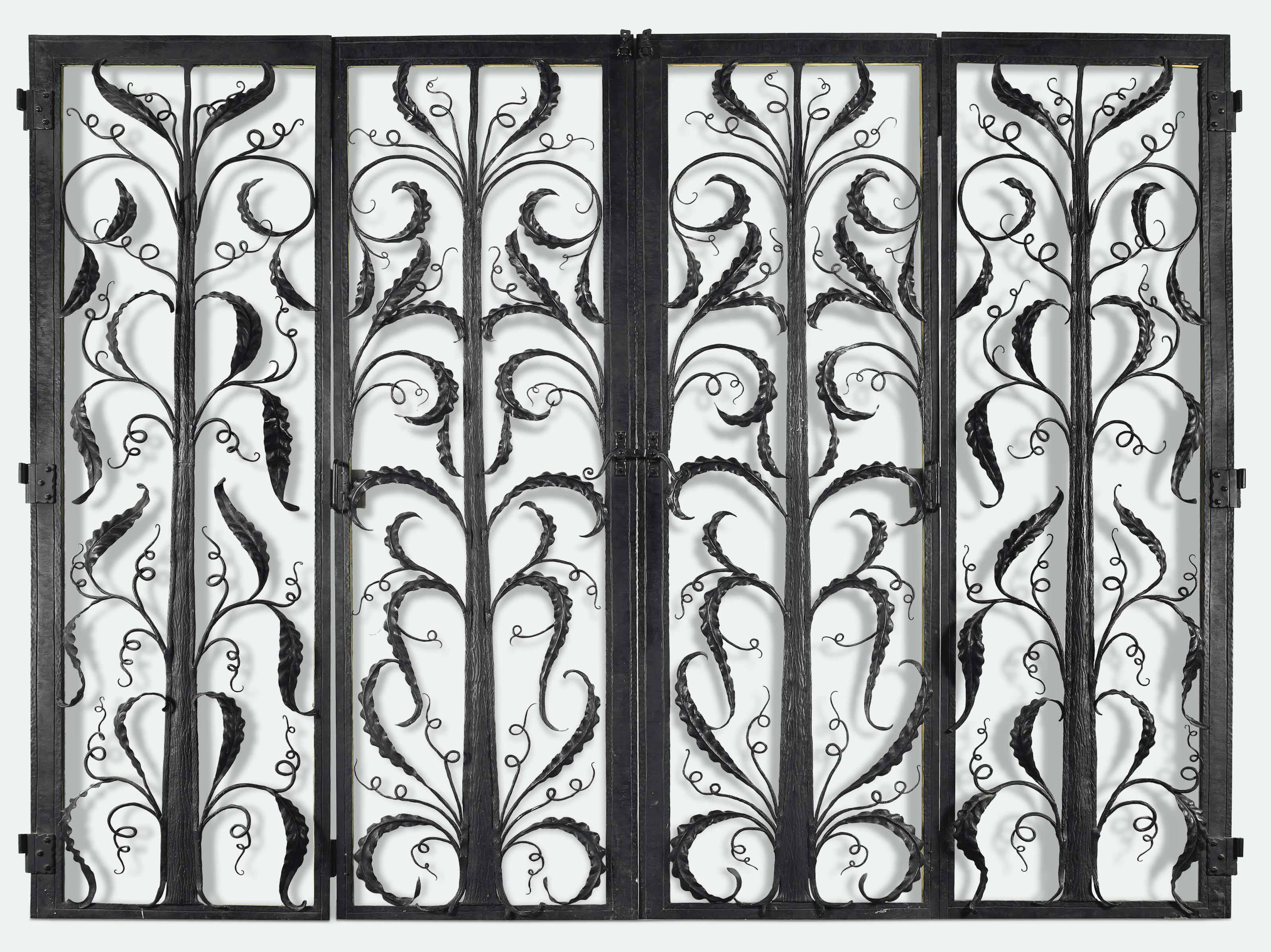FOUR CONTINENTAL WROUGHT IRON
