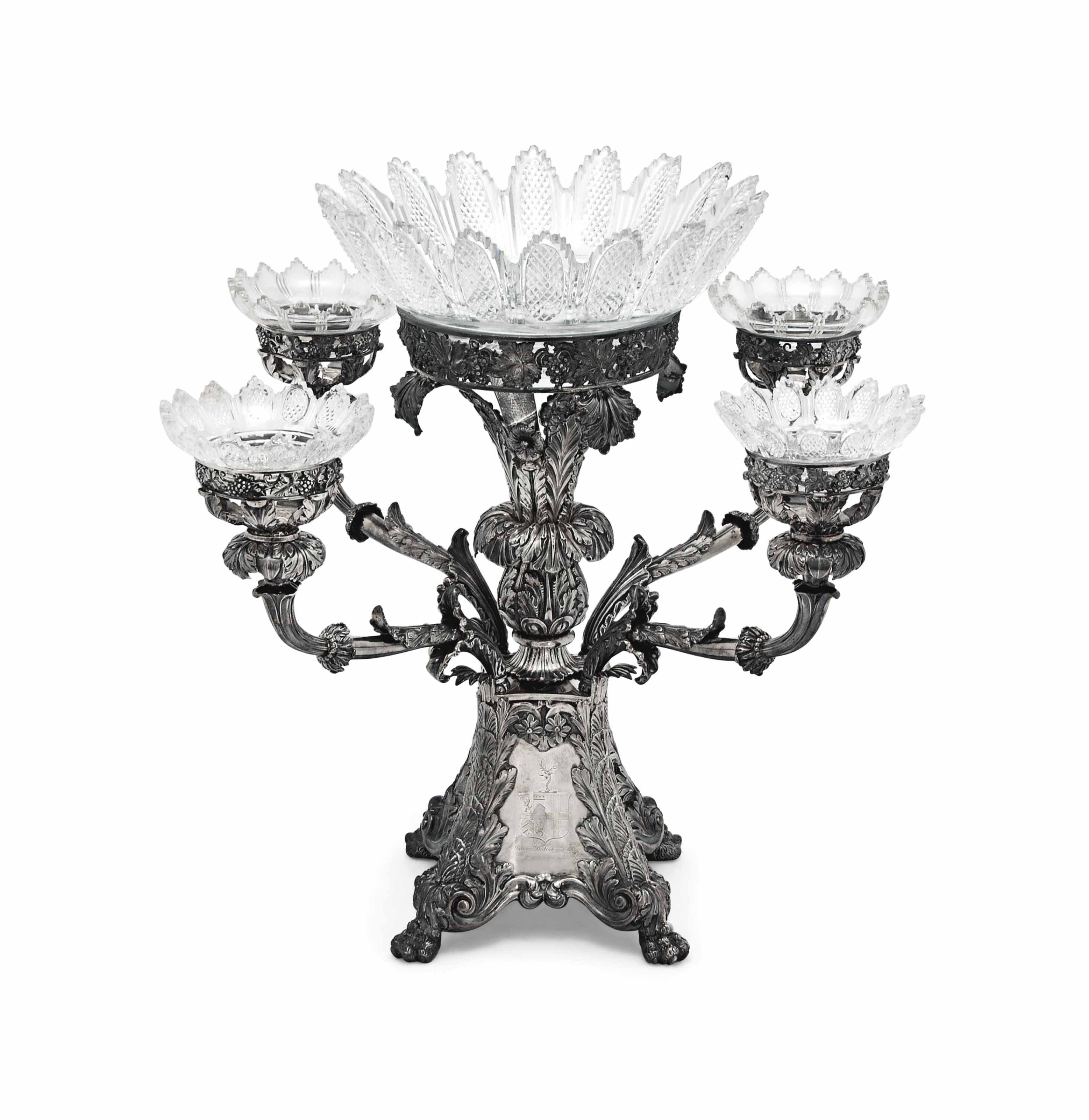 A GEORGE IV SILVER EPERGNE