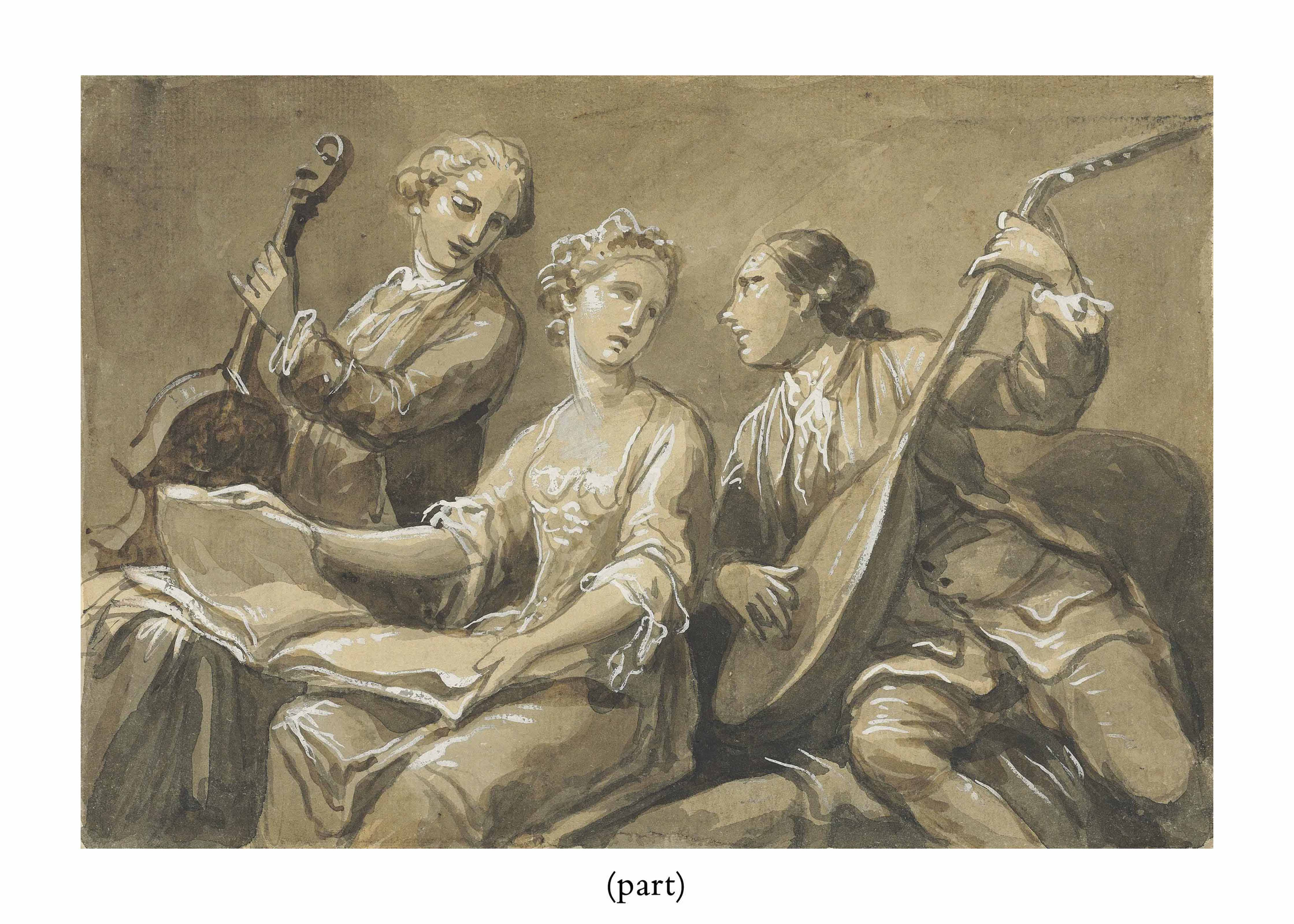 A singer with two musicians