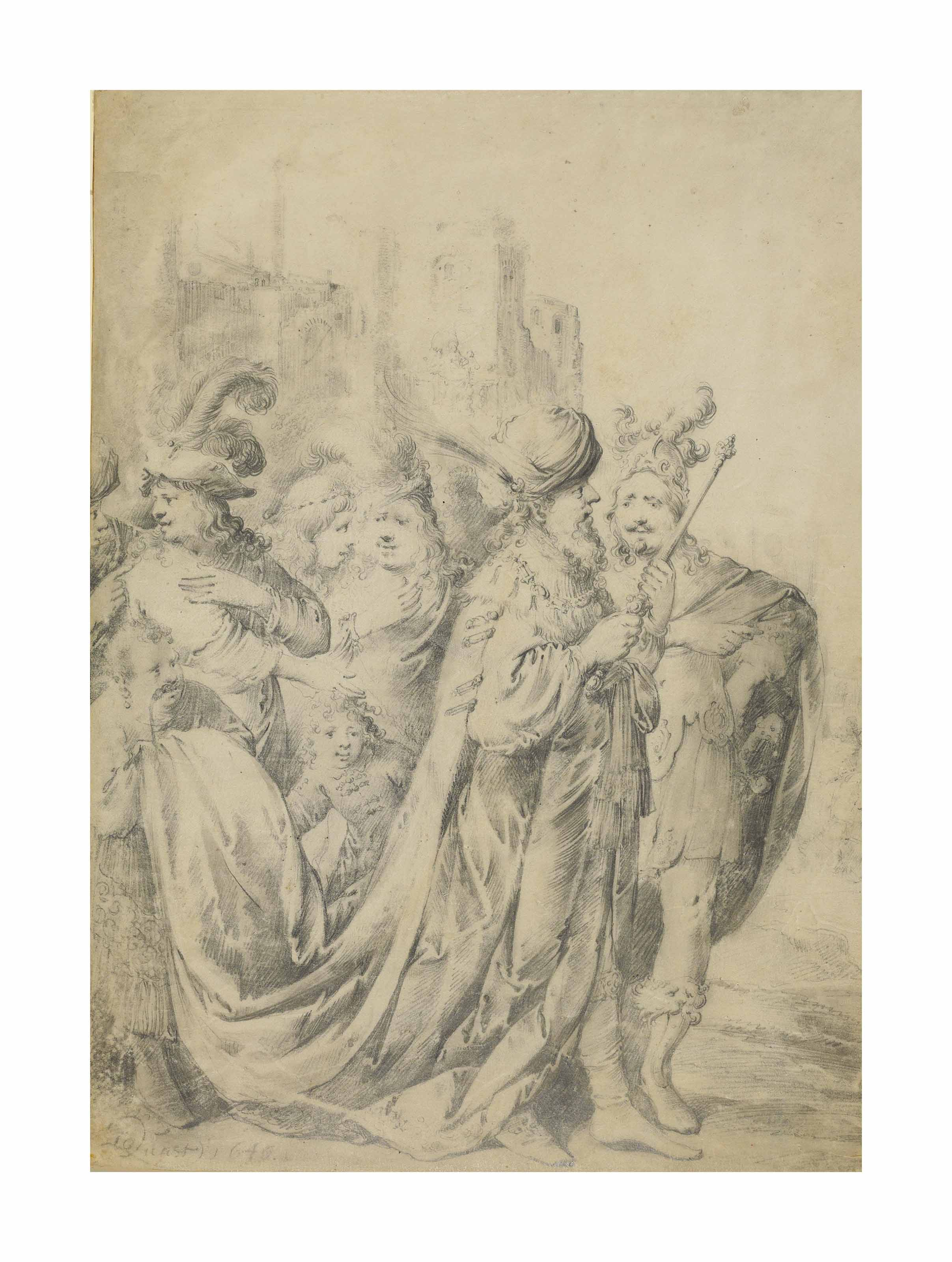 King Solomon with his entourage