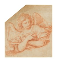 An angel with crossed arms