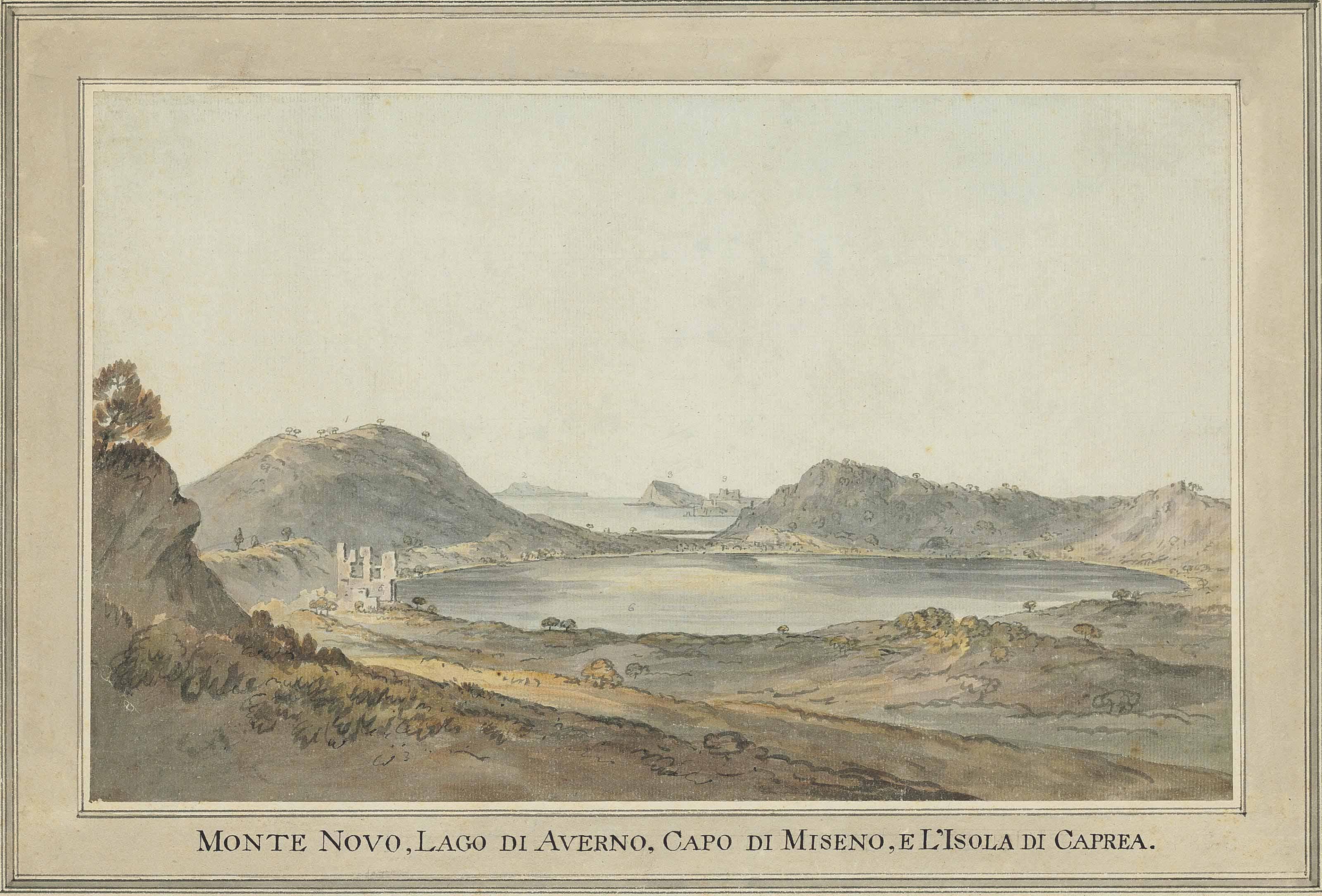 Lake Avernus, looking towards Capri
