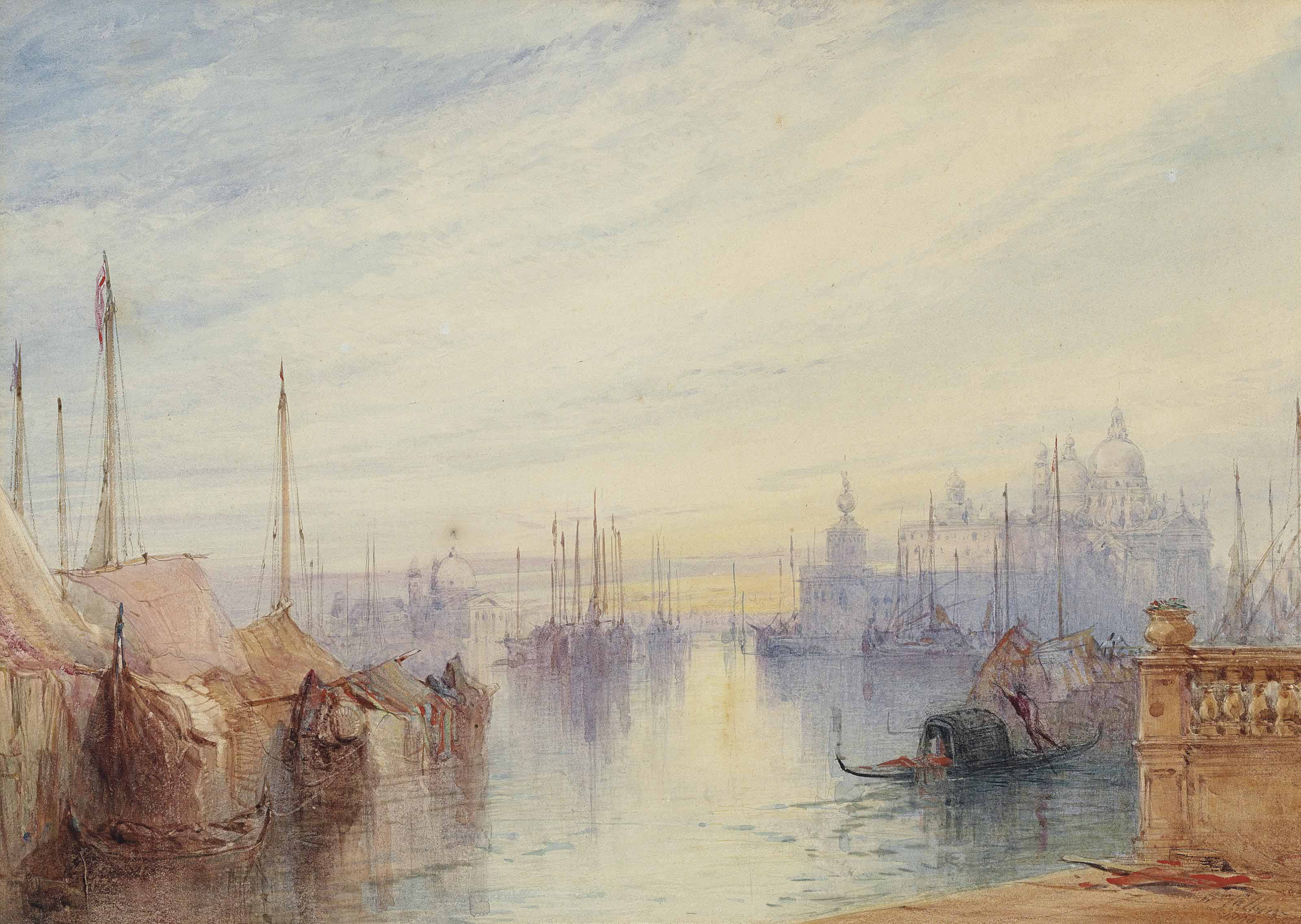 The Dogana, Venice, Sunrise