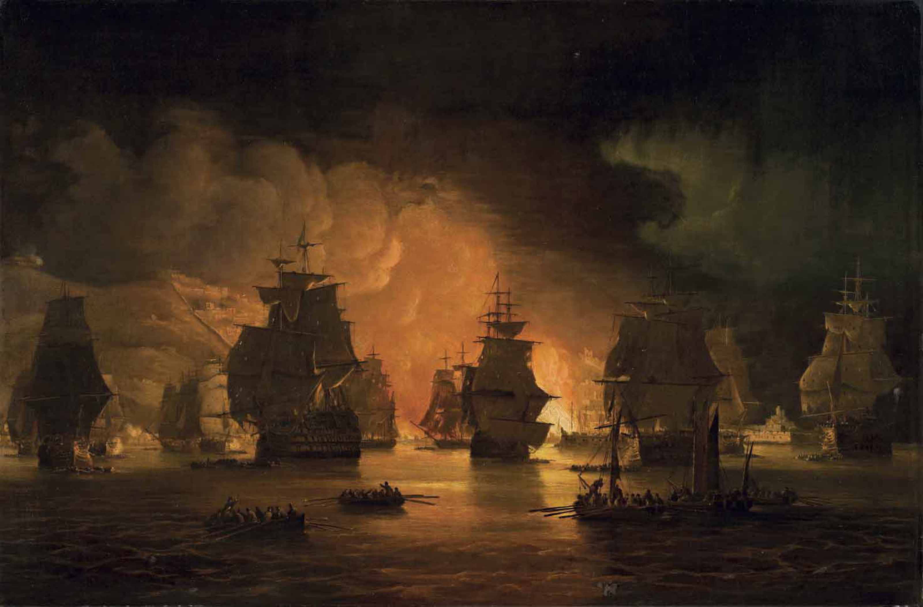 The bombardment of Algiers, 27th August 1816