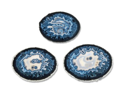 THREE AGATE SLICES