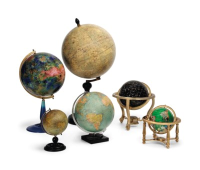 A GROUP OF SIX TABLE GLOBE