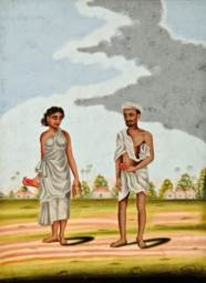 TWO PAINTINGS OF CASTES AND TR