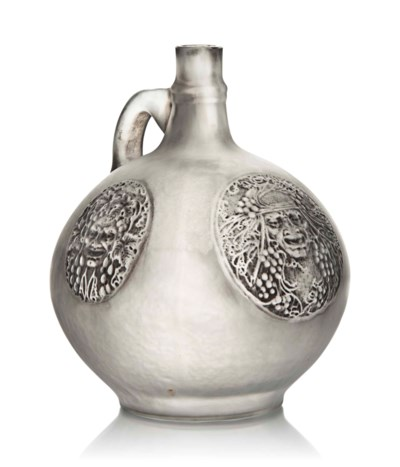 A Rare 'Quatre Masques' Vase w