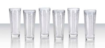 Six 'Six Figurines' Glasses, N