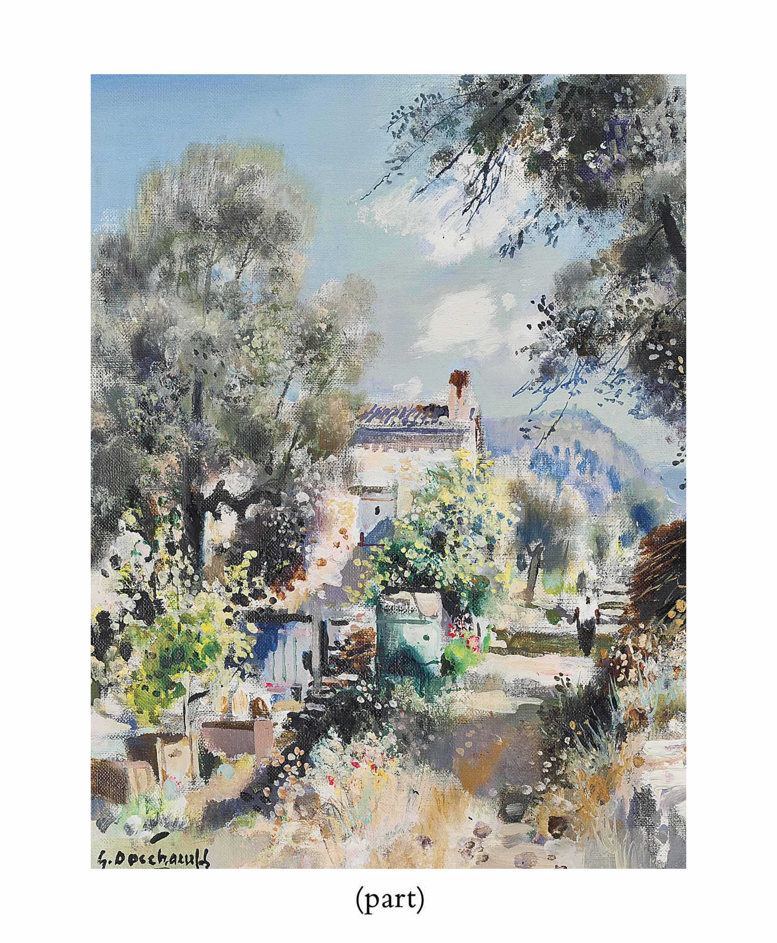 Un paysage avec un moulin à eau; Le mas de Santon, Grasse; et Un chateau, Grasse (one illustrated)