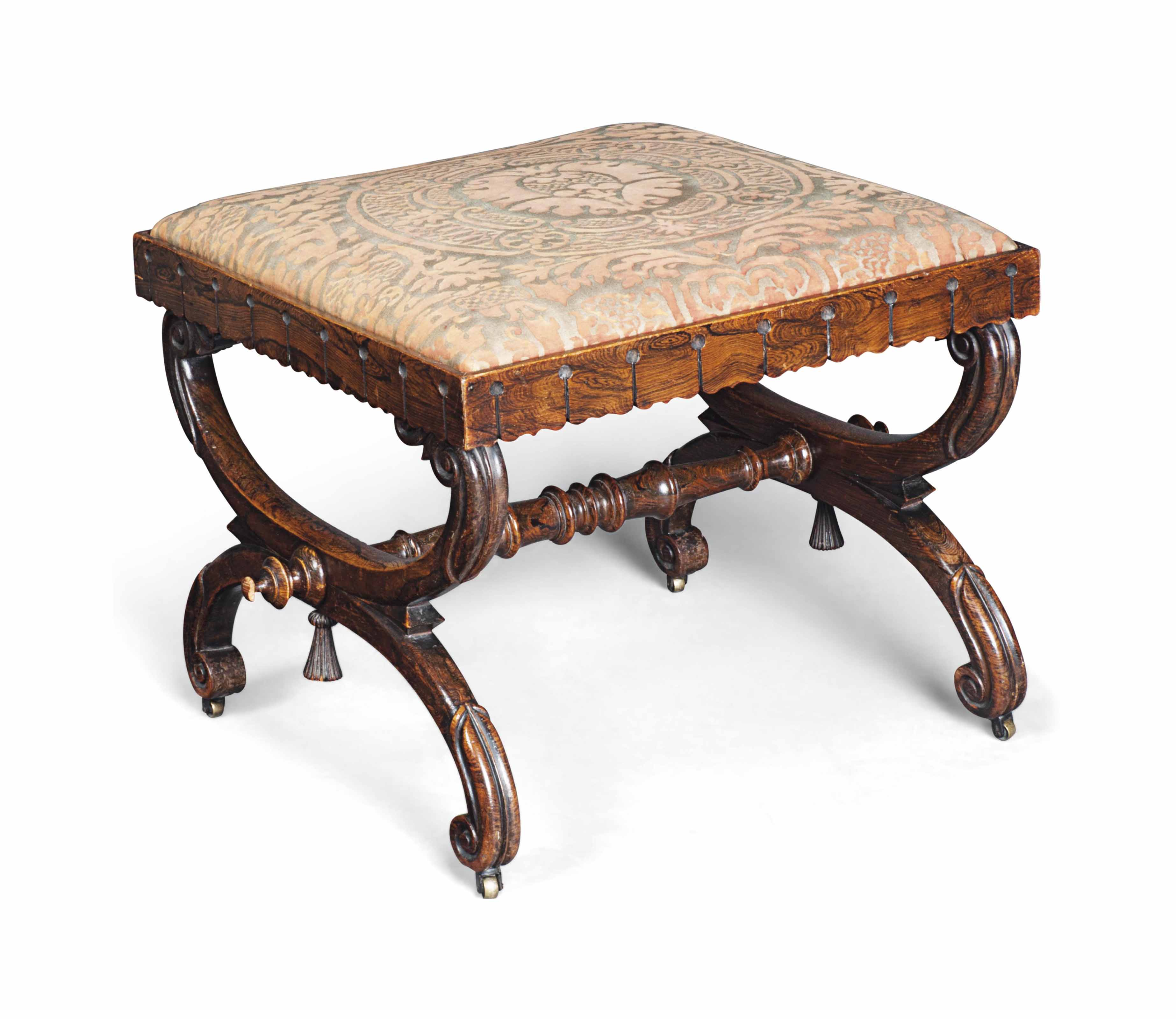A GEORGE IV GRAINED STOOL