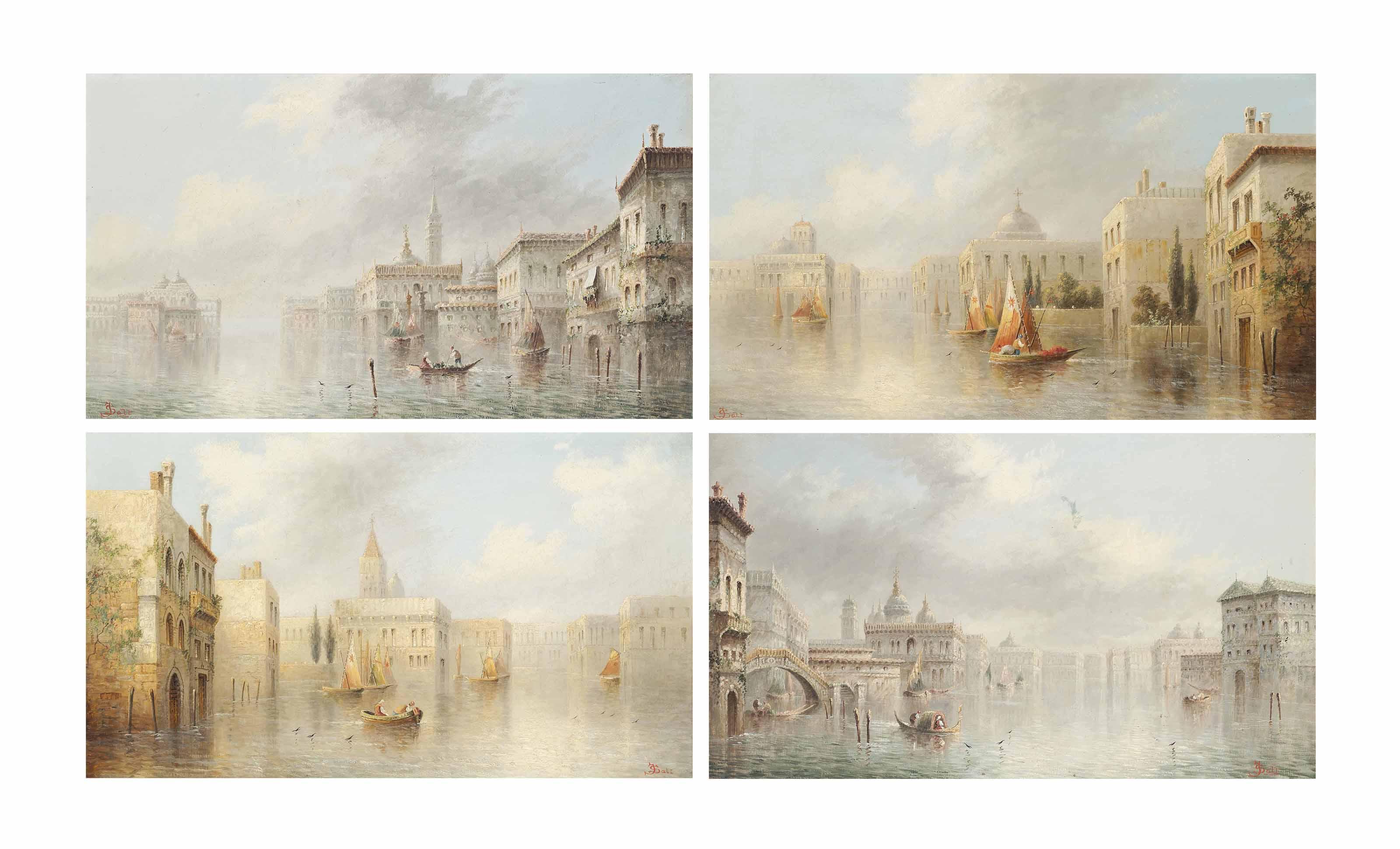Set of four Venetian capriccios