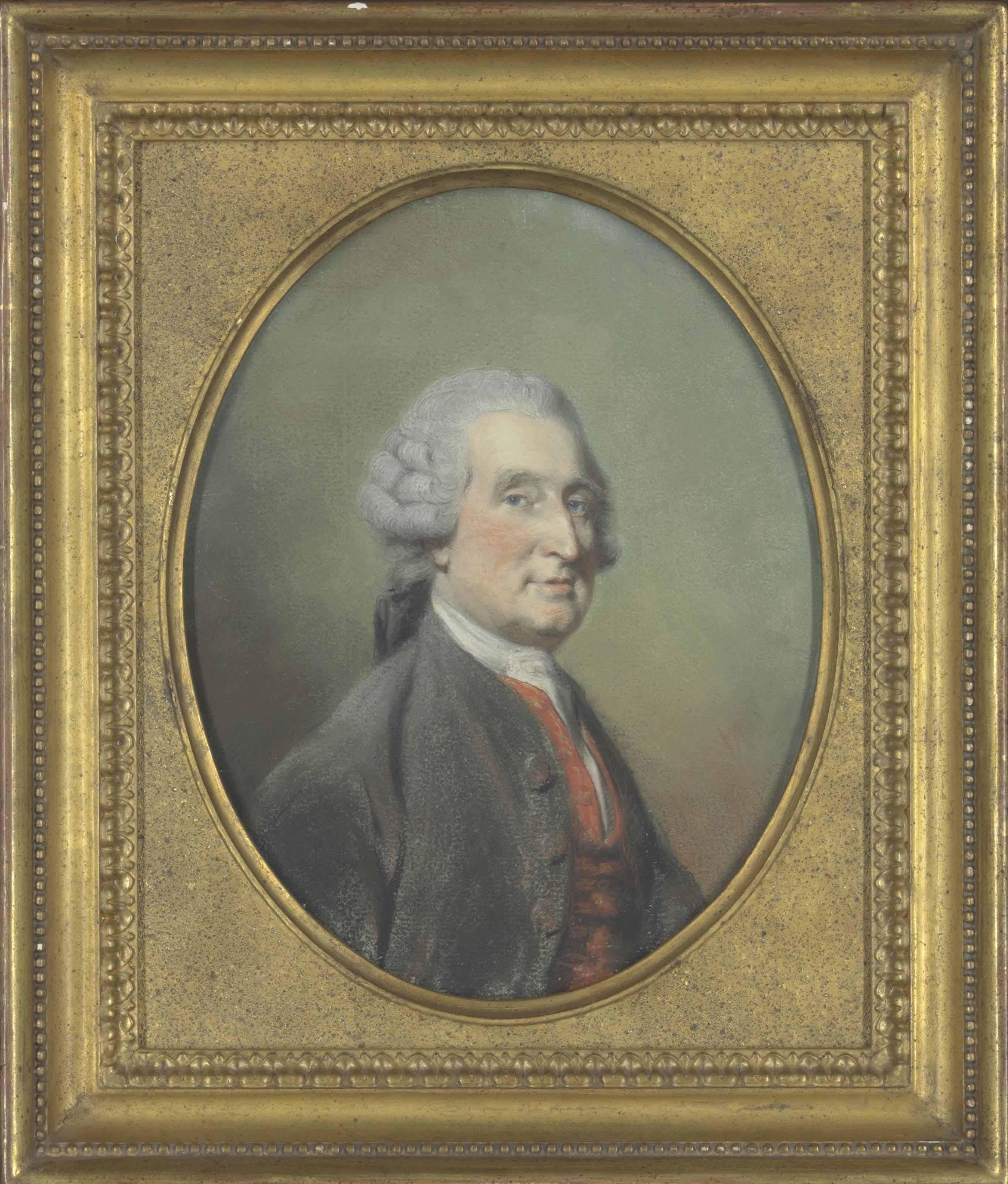 Portrait of a gentleman in a brown coat