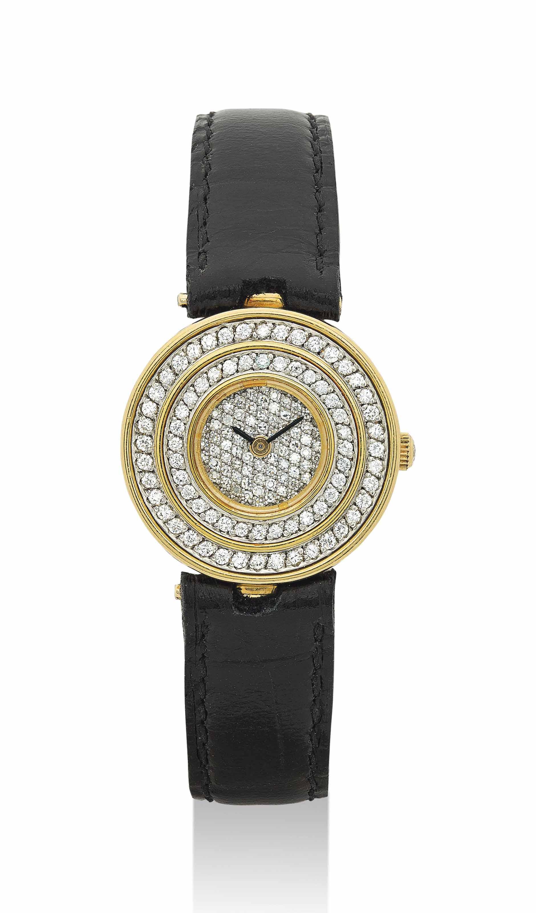 GRAFF. A LADY'S FINE 18K GOLD AND DIAMOND-SET WRISTWATCH