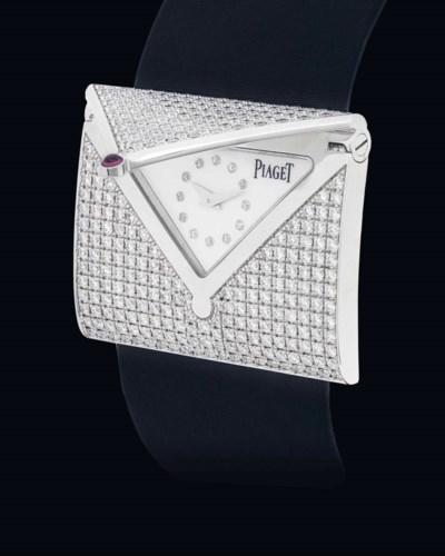 PIAGET. A LADY'S FINE 18K WHIT