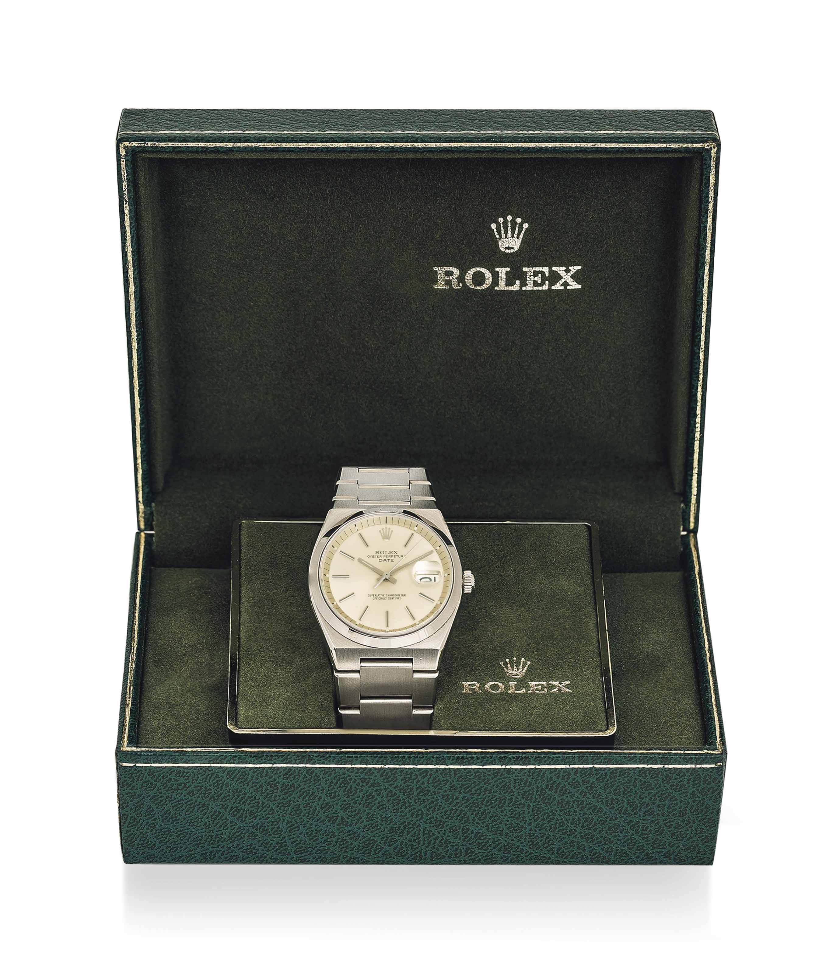 Rolex A Stainless Steel Automatic Wristwatch With Date Sweep