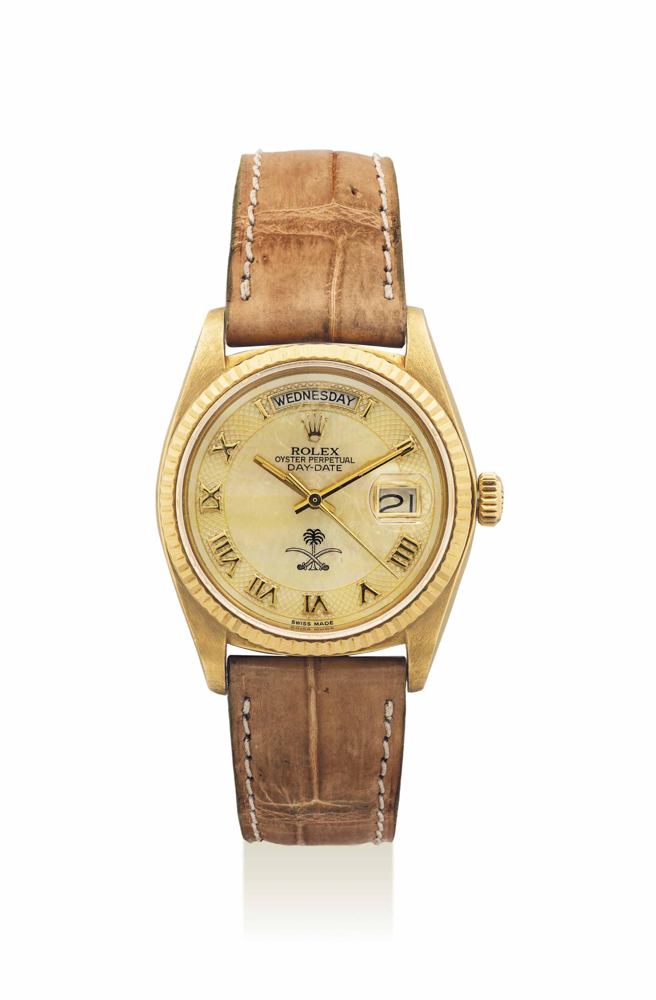 ROLEX. A RARE AND UNUSUAL 18K