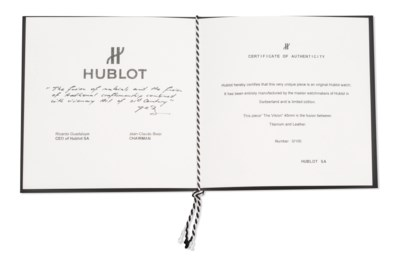 HUBLOT. AN EXTREMELY RARE, TIT