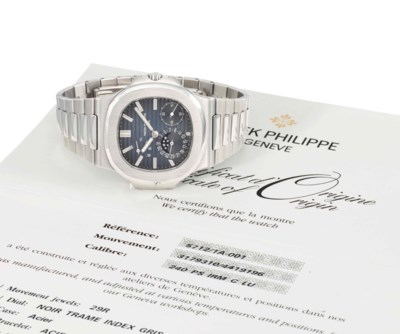 Patek Philippe. A large stainl