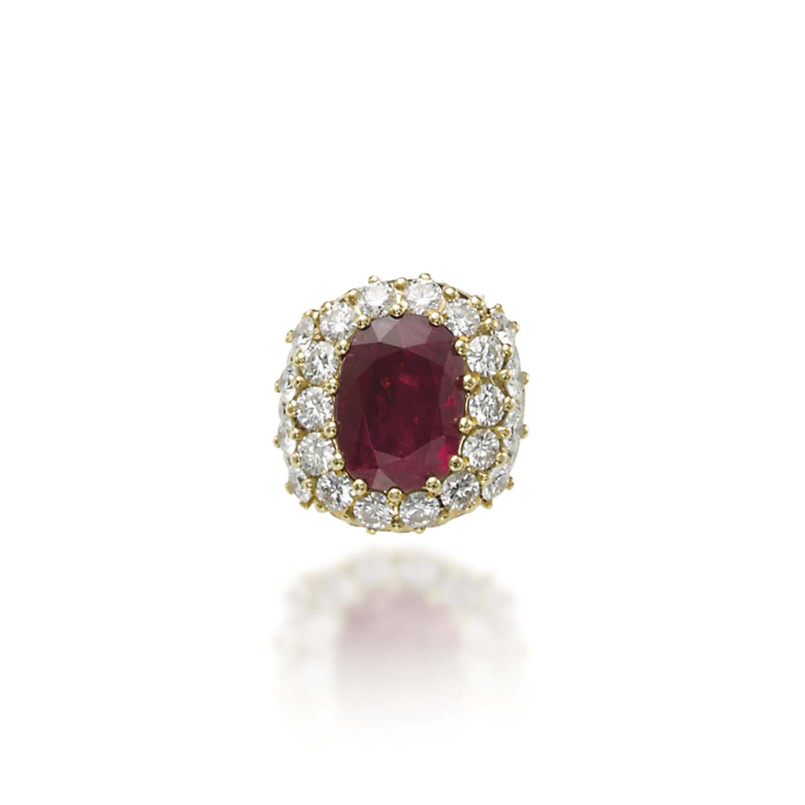 A RUBY AND DIAMOND RING, BY MORONI