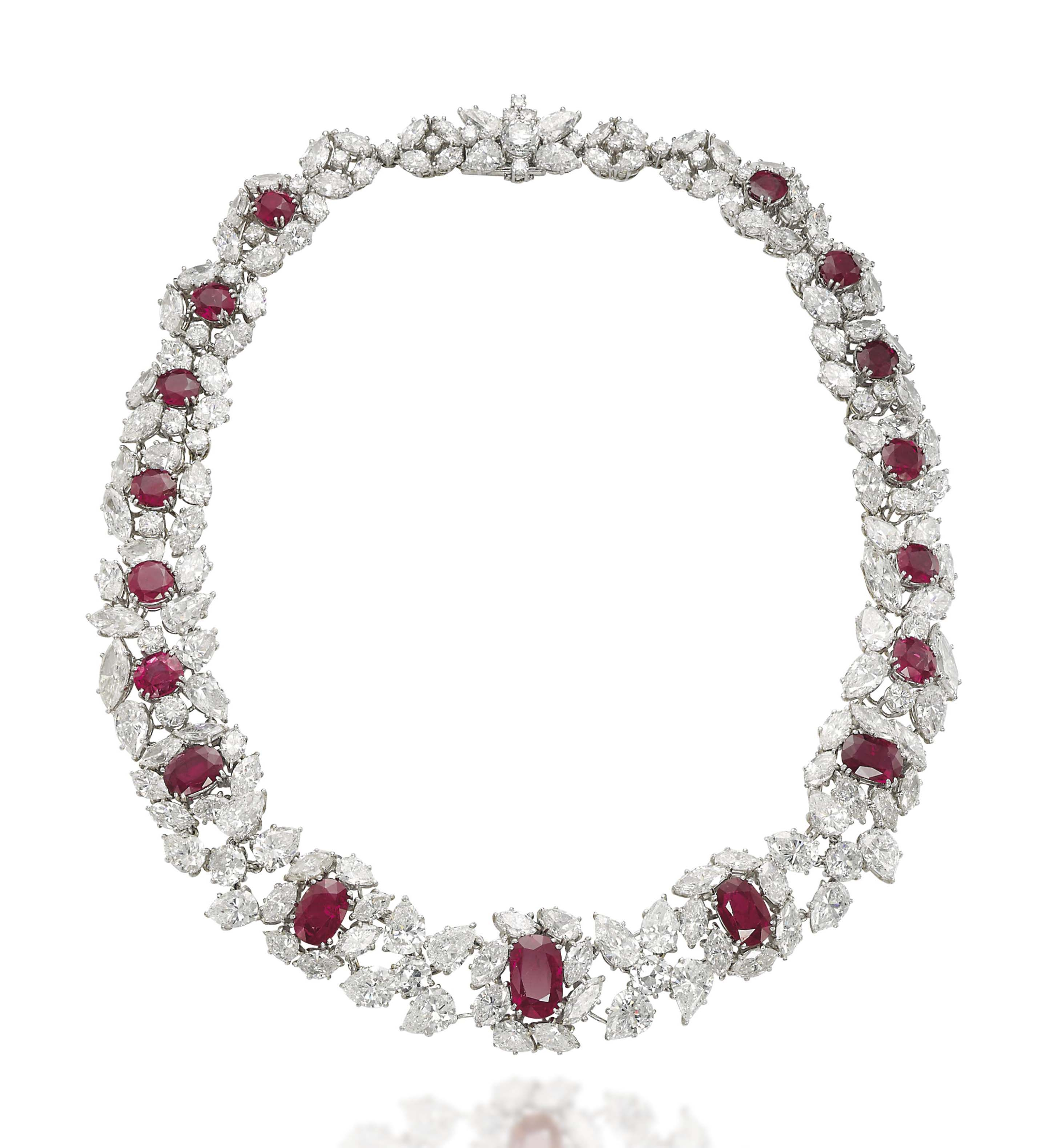 a ruby and diamond necklace by harry winston christies