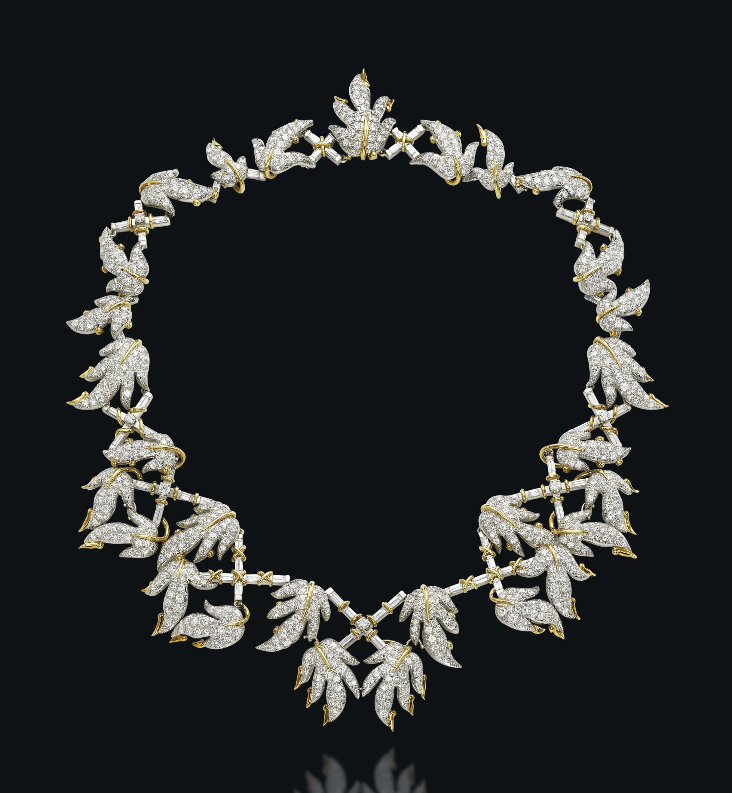 A DIAMOND NECKLACE, BY JEAN SCHLUMBERGER, TIFFANY & CO.