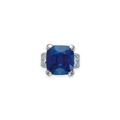 AN EXCEPTIONAL SAPPHIRE AND DI