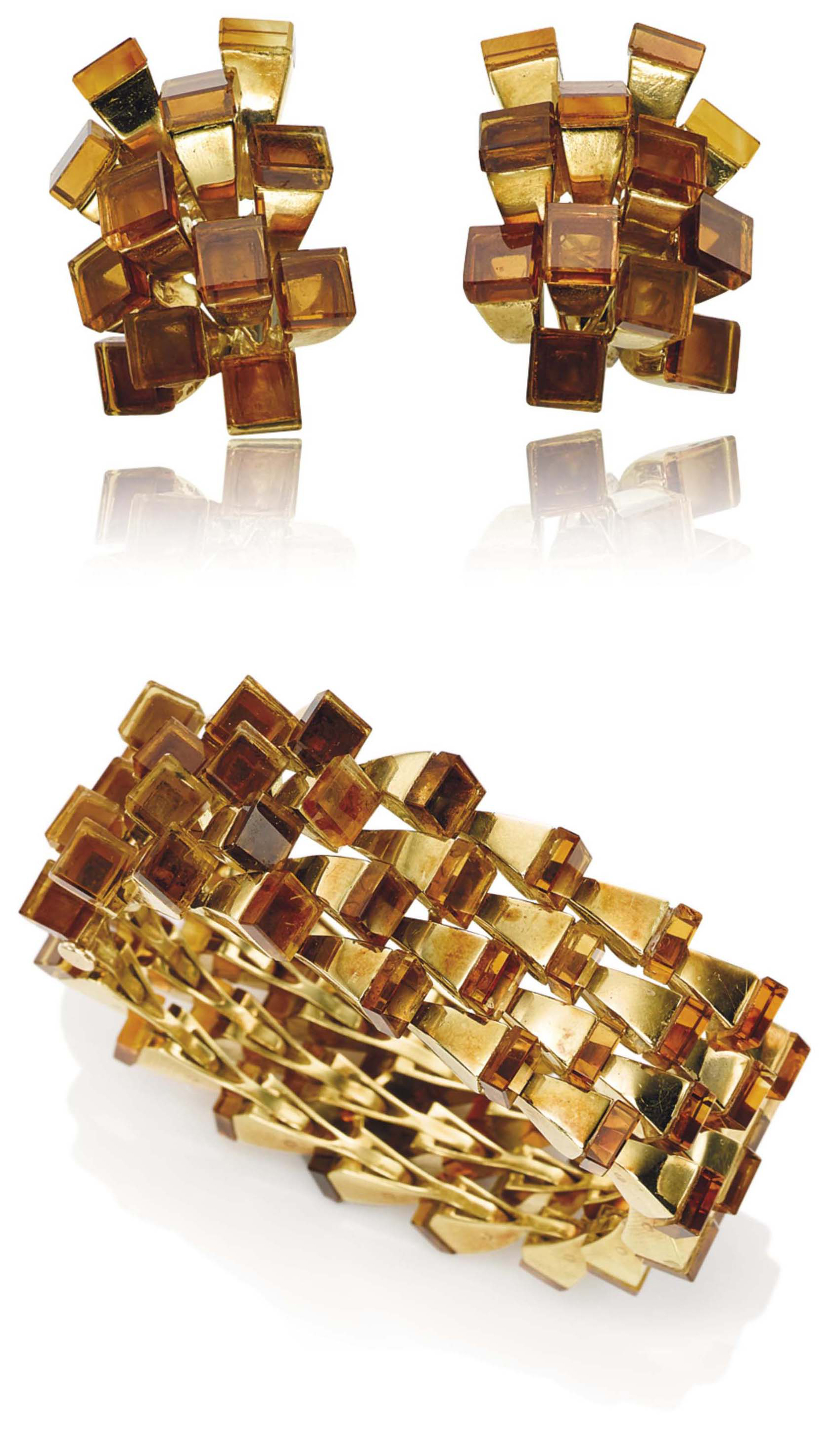 A SET OF CITRINE JEWELLERY, BY ALDO CIPULLO, FOR CARTIER