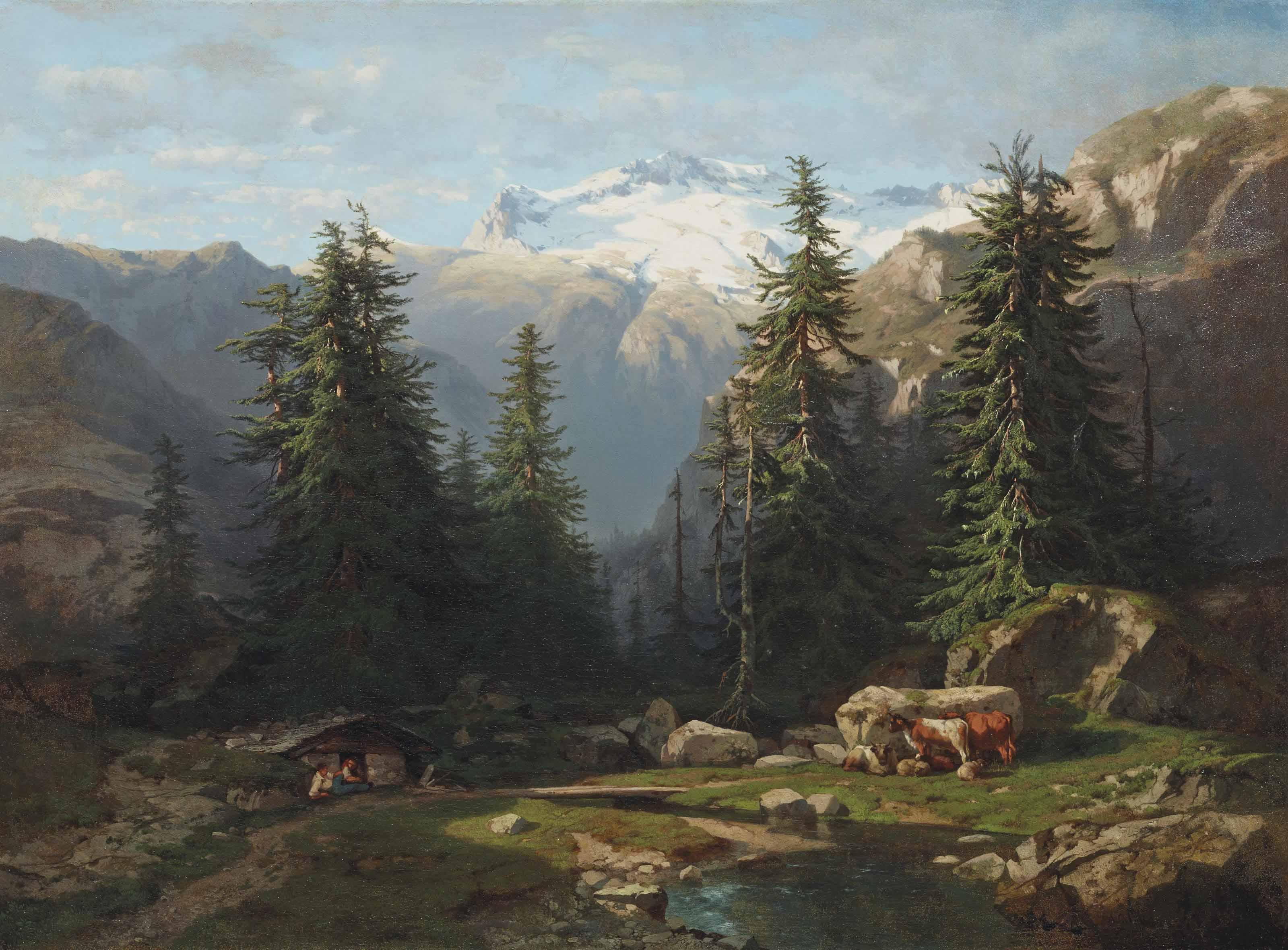 Vue prise à la Handeck, 1836-1842