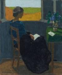 Jeune fille lisant, um 1918