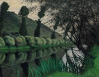 La Seine bordée de saules, Tournedos, 1922