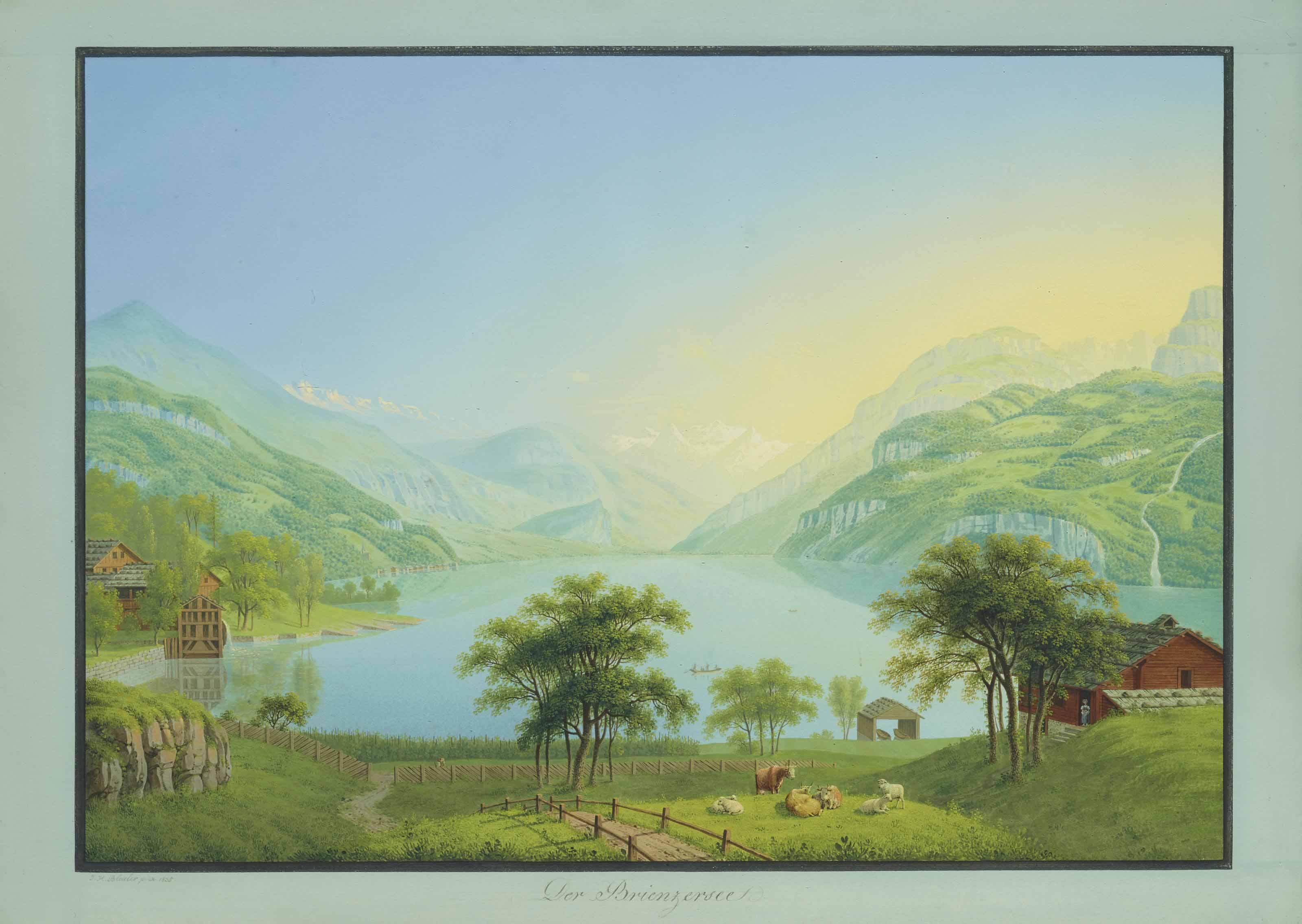 Der Brienzersee, 1853