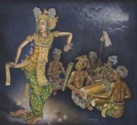 A Dancer and a Gamelan Orchestra