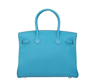 A TURQUOISE TOGO LEATHER BIRIK