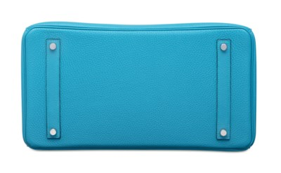 A TURQUOISE TOGO LEATHER BIRKI