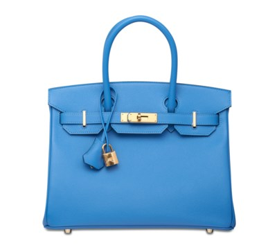 A BLEU PARADIS EPSOM LEATHER B