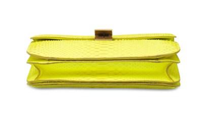 A YELLOW PYTHON LARGE BOX BAG