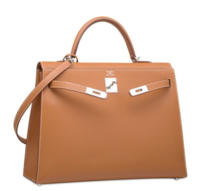 A GOLD EPSOM LEATHER SELLIER K