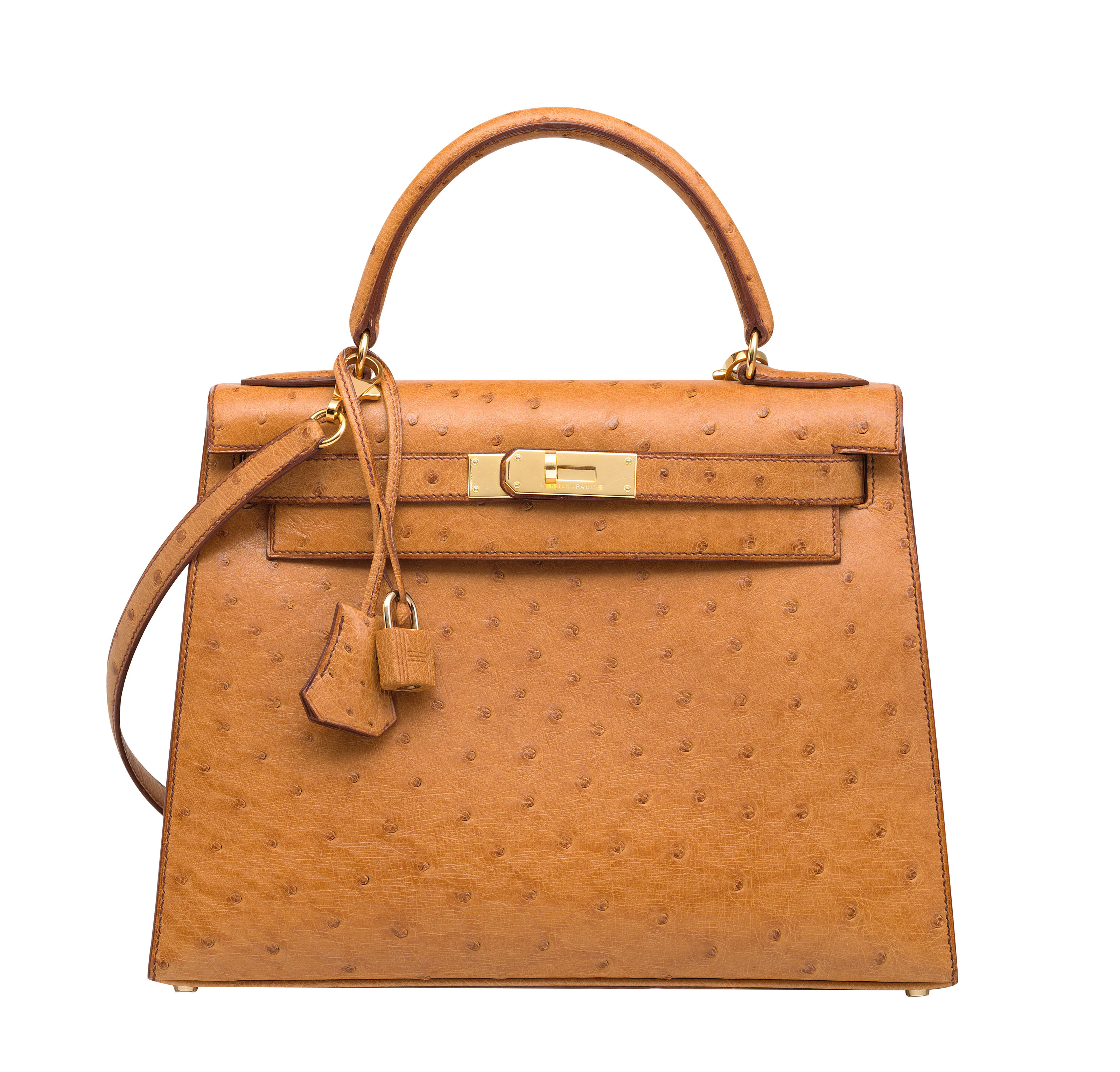 bf64755a46a6 best price a cognac ostrich sellier kelly 28 with gold hardware hermÈs 1995  53745 f2834