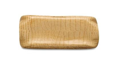 A MATTE BEIGE CROCODILE BAG WI