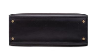 A BLACK CALF BOX LEATHER SELLI