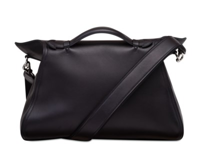 A BLACK EVERGRAIN LEATHER OXER