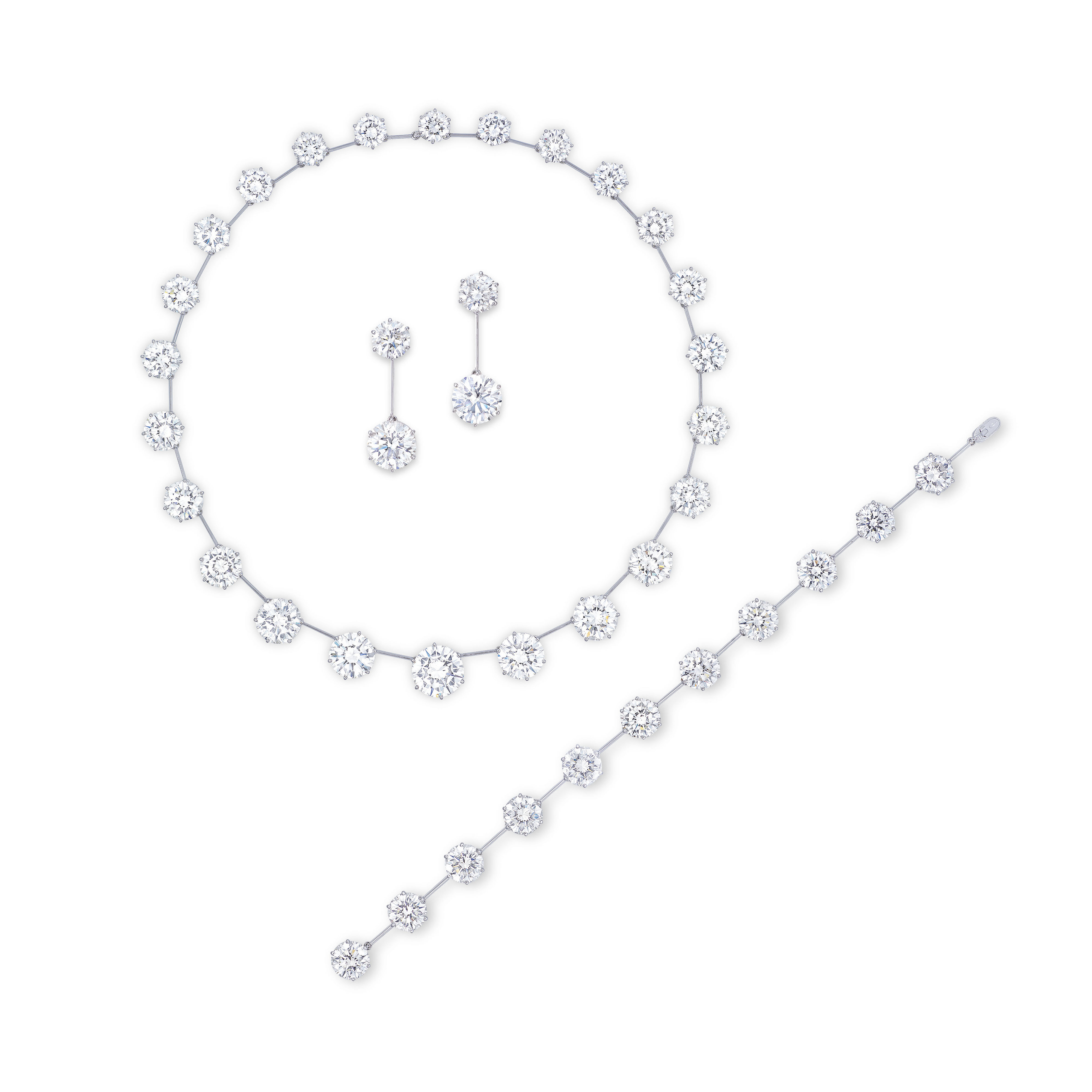 A SUITE OF DIAMOND JEWELLERY, BY GIMEL