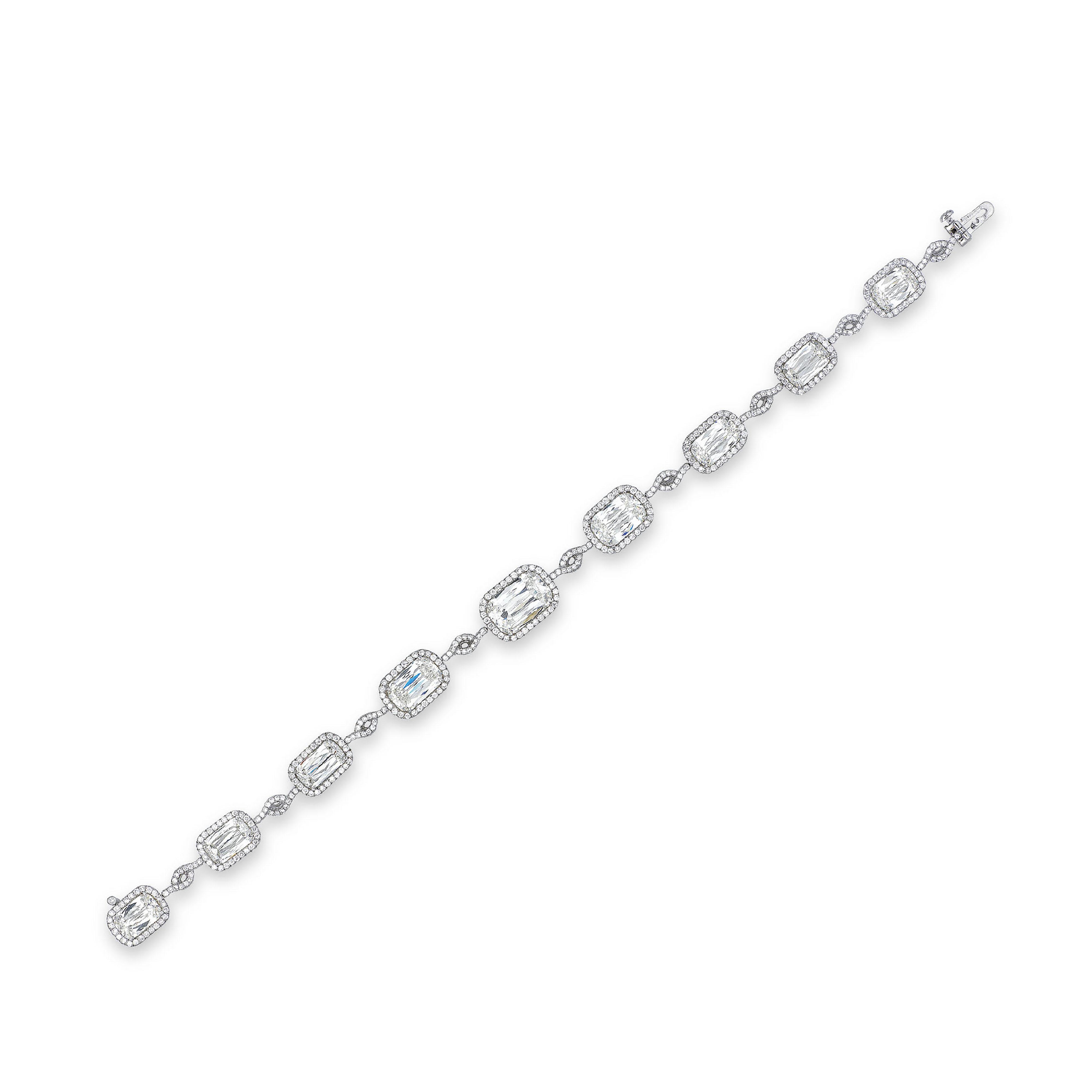 A DIAMOND BRACELET, BY WILLIAM