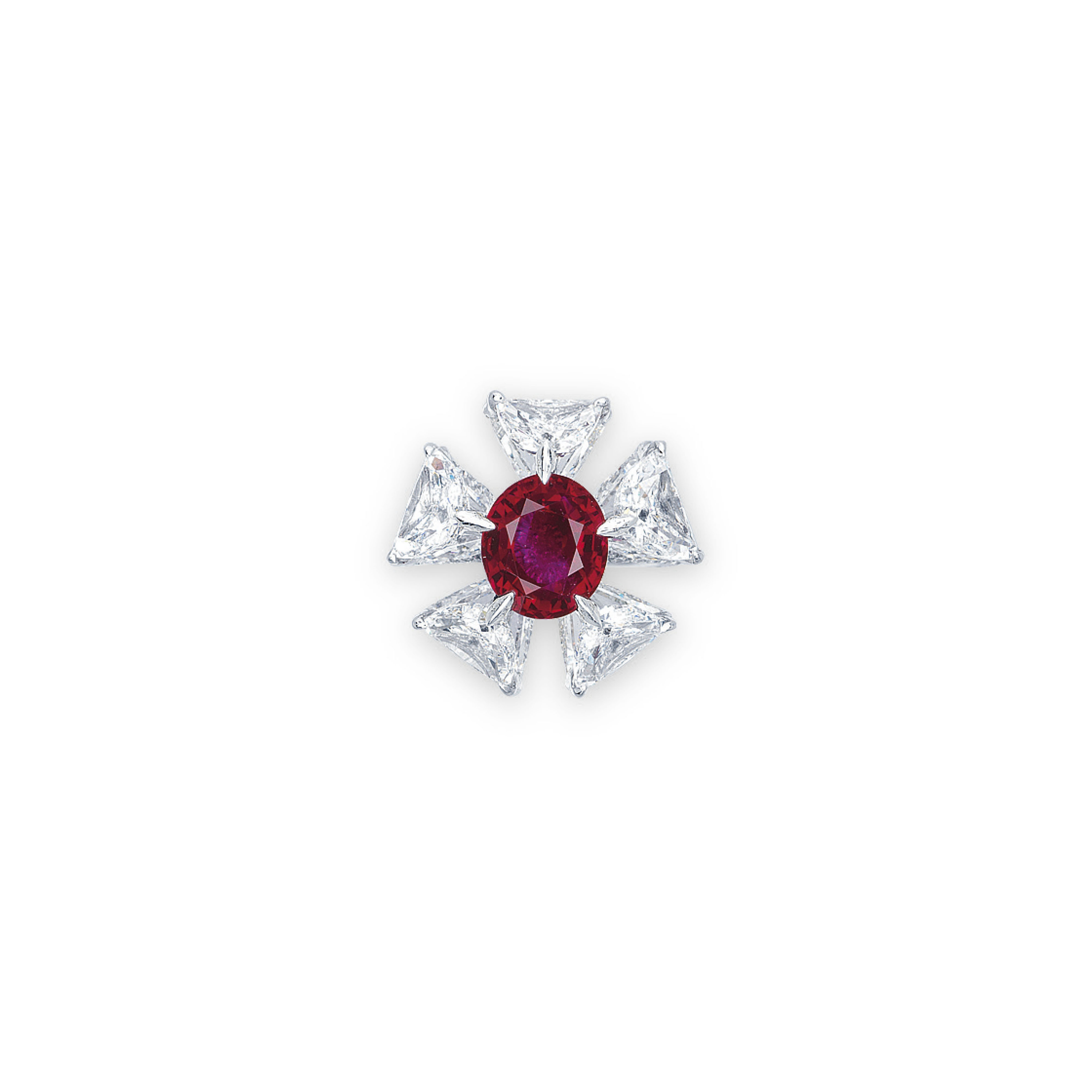 A SUPERB RUBY AND DIAMOND RING