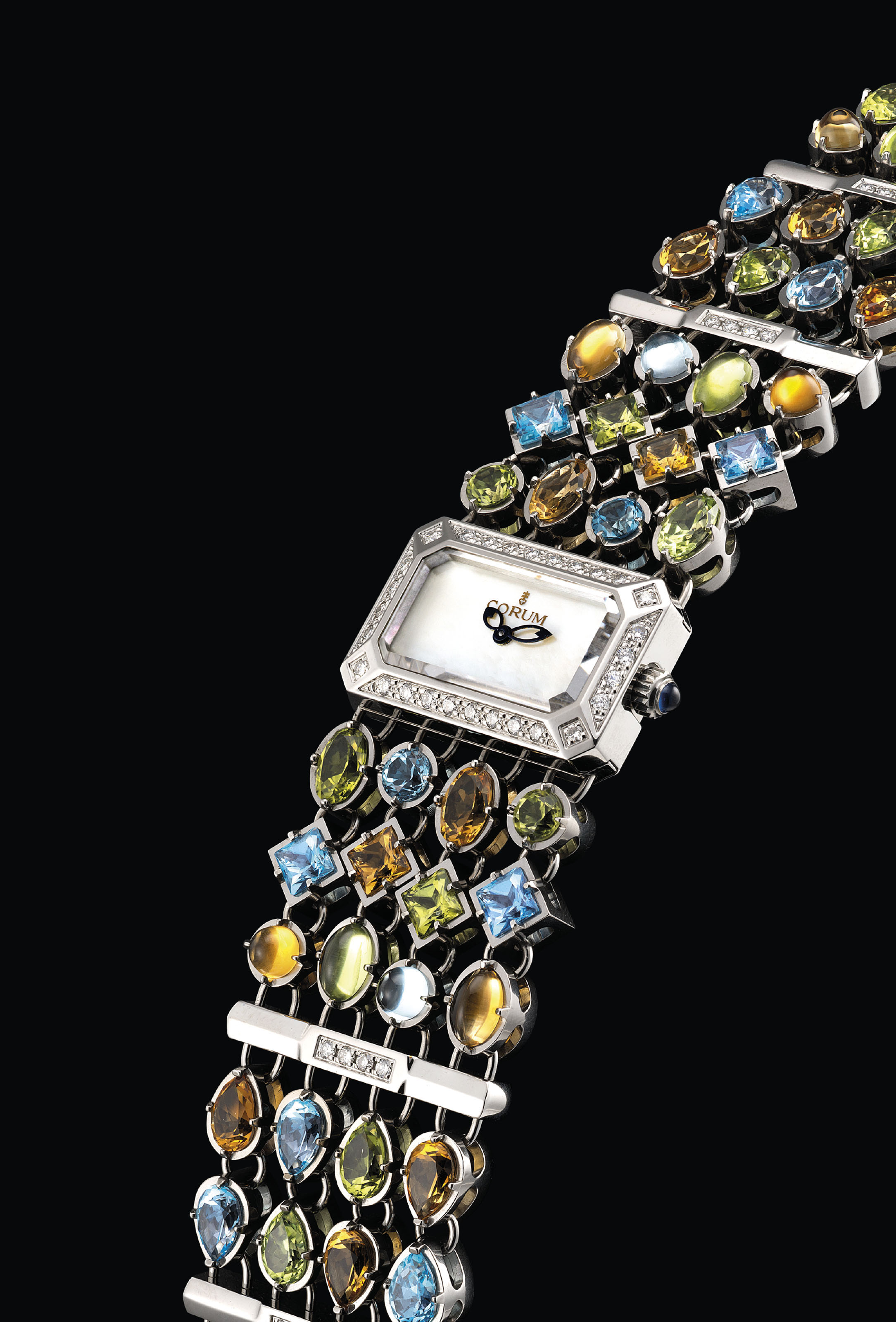 CORUM. A LADY'S STAINLESS STEE
