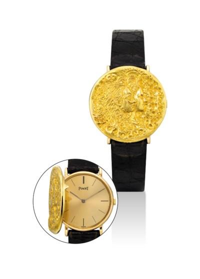 PIAGET. A RARE 18K GOLD DALI D
