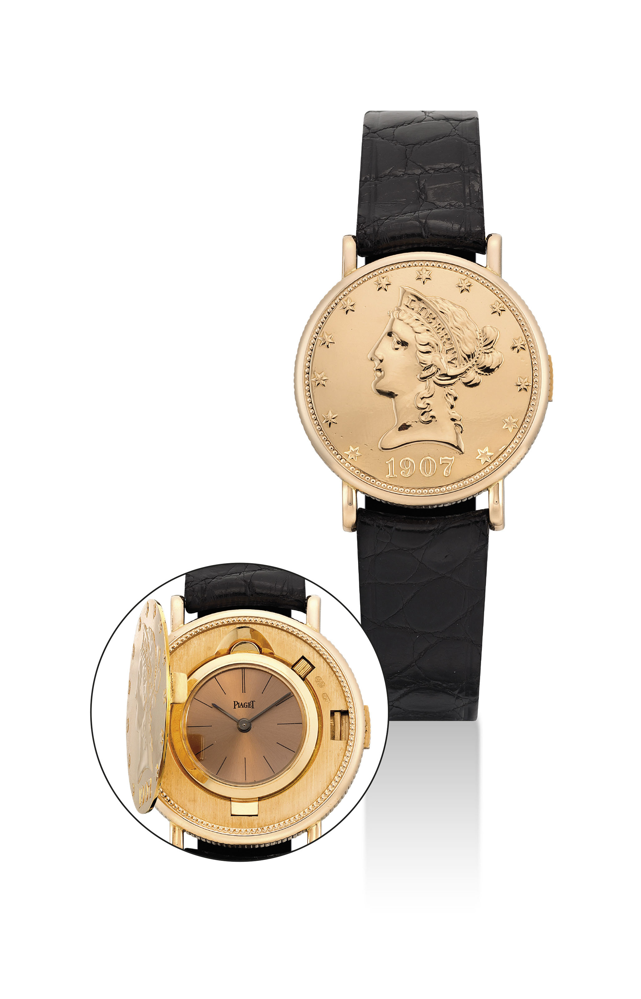 PIAGET. A RARE AND SMALL 18K G