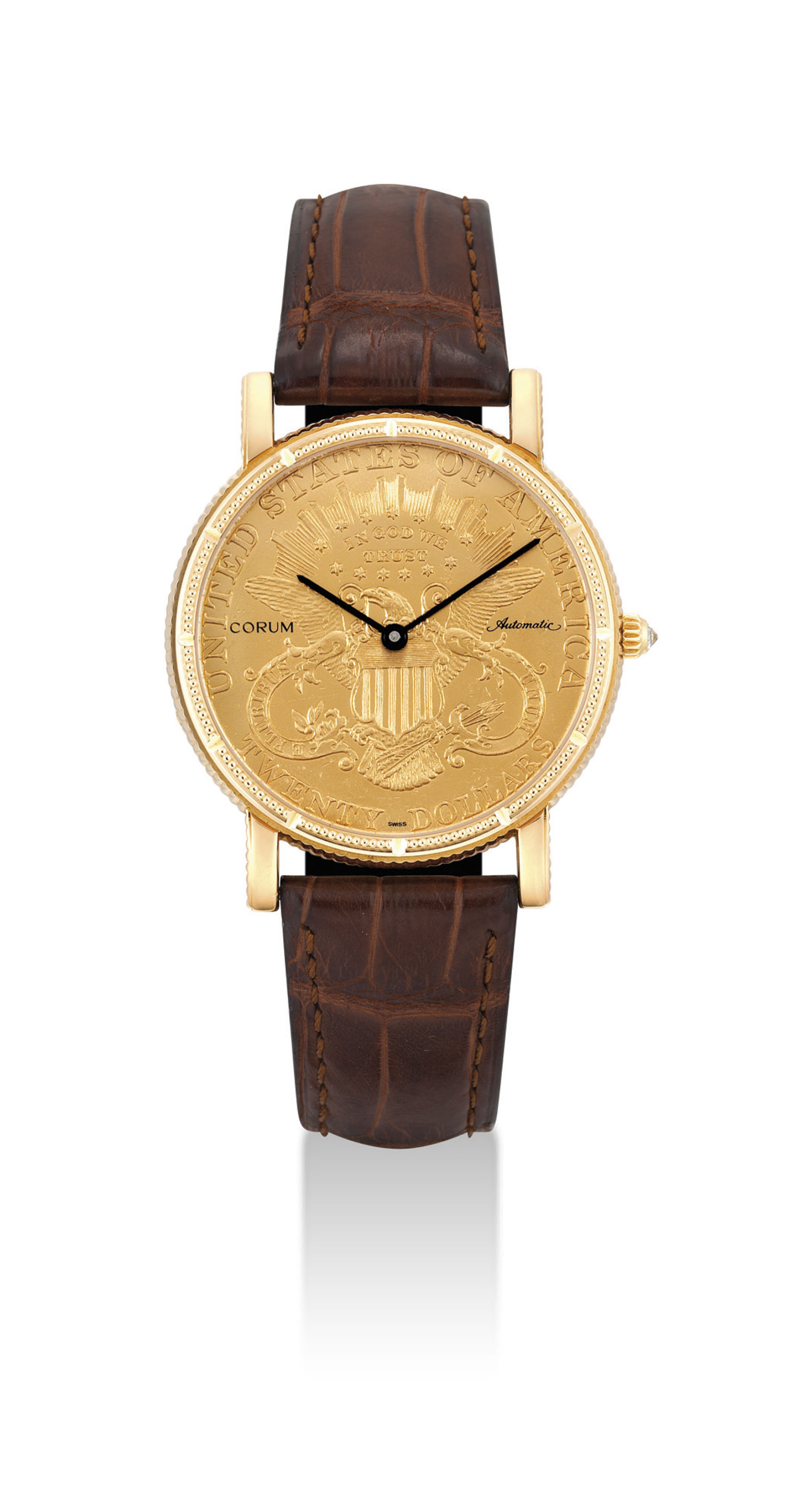 CORUM. AN 18K GOLD AUTOMATIC T